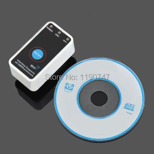 100% Original New Super mini ELM327 WiFi for iPhone OBD-II OBD Can Code reader compared the CLK DEVICE(China (Mainland))