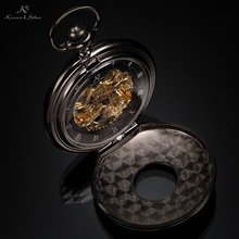 KS Retro Skeleton Alloy Case Copper Key Style Roman Dial Luxury Case Male Clock Mechanical Hand