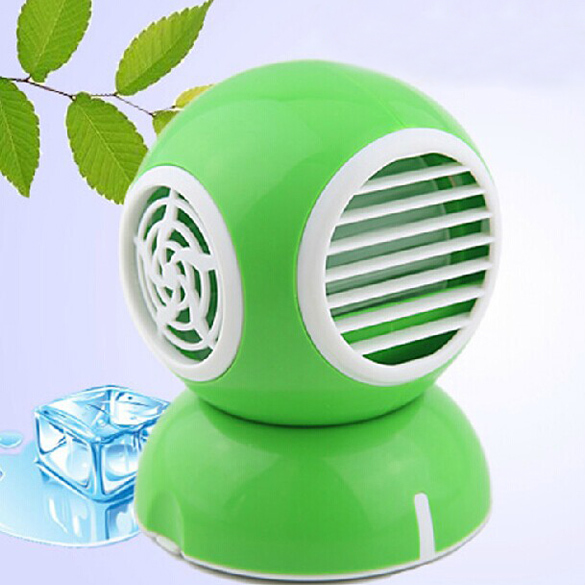 USB Perfume Turbine Fan Air Conditioner Mini Bladeless Laptop Cooler Green Wen(China (Mainland))