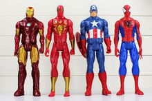 30cm The Avengers Super Heros Captain American Spider Man Iron Man Wolverine Black Widow action toy figure model doll