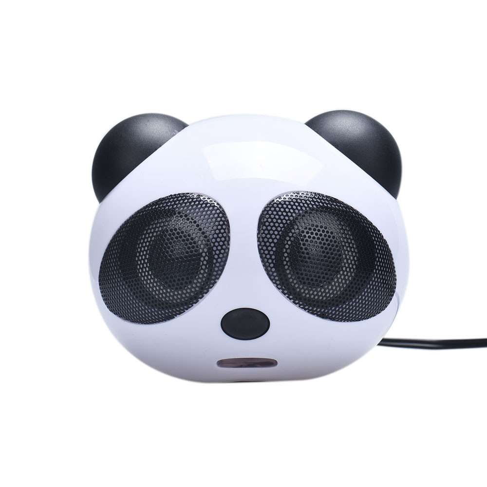 Free Shipping Cute New Hot Panda Mini Portable USB Subwoofer Speaker Music Player for Computer Desktop PC Mobile Phone MP3 DVD(China (Mainland))