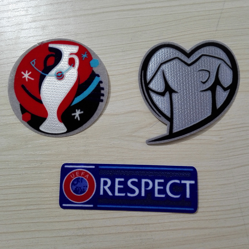 EM2016 QualifiersTop quality Patch + PLAY With Heart +Champions League Respect Patch Soccer Patch 3pcs /lot Soccer Badges(China (Mainland))