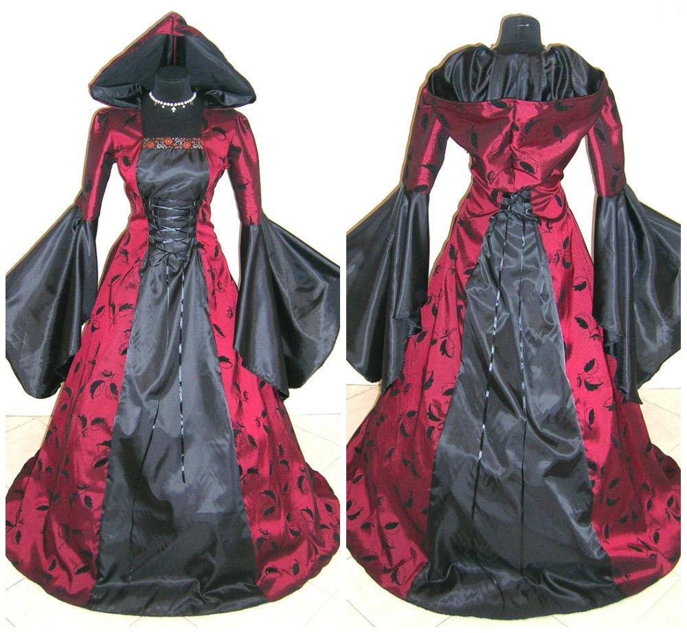 robe de mari e gothique rouge et noir id es et d 39 inspiration sur le mariage. Black Bedroom Furniture Sets. Home Design Ideas