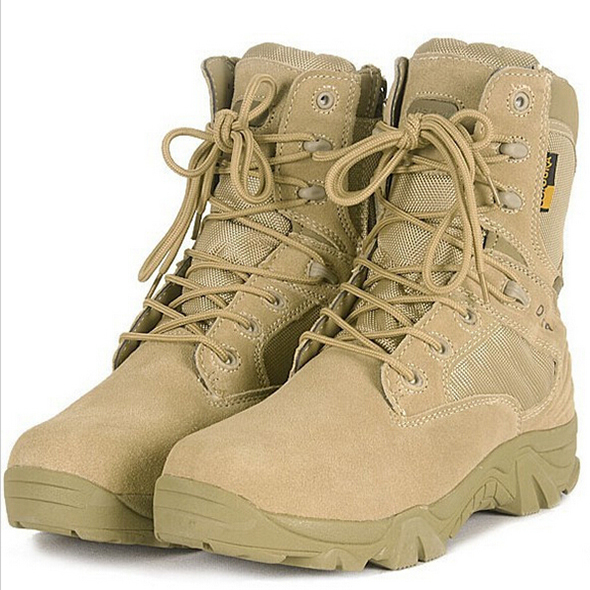 "Delta Tactical Boots Military Desert Combat Boots Outdoor Shoes 7"" Shoes Summer Breathable Wearable Boots Hiking EUR size 39-45(China (Mainland))"