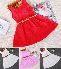 Baby Kids Girls Clothes Dresses Sleeveless Cool Princess Lace Hollow Out Summer Dress Clothes Kids 2 3 4 5 6 7 Years New Cute