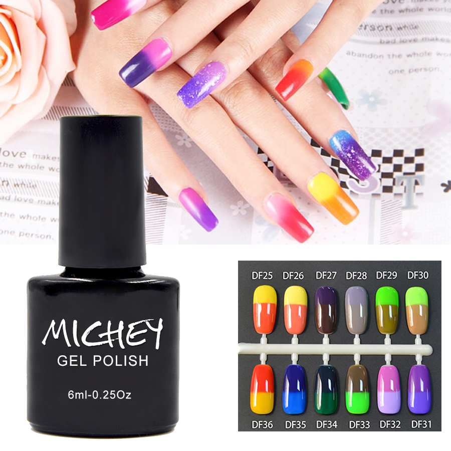 2016 MICHEY Gel de Color New Product Super Gel Color Temperature Change Nail Gel Thermal 1PCS Hard Gel Artist Makeup Women(China (Mainland))