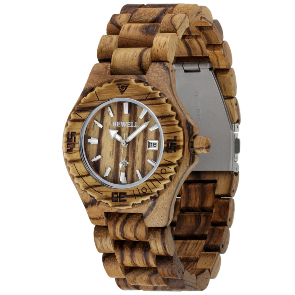 New!! 100% Natural Quality Handmade Zebra Wood Watch Quartz Casual Watches for Man Famous Brand chrismas Gift  Clock with Box<br><br>Aliexpress