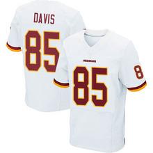 Men's #85 Vernon Davis Elite White Jersey 100% Stitched(China (Mainland))
