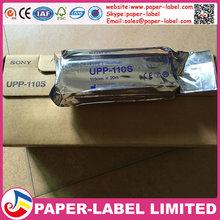 100X Rolls compatible ultrasound UPP 110S, 110mm*20m B-recorder UPP-110S thermal paper printer b-sheets, A6 printer paper(China (Mainland))
