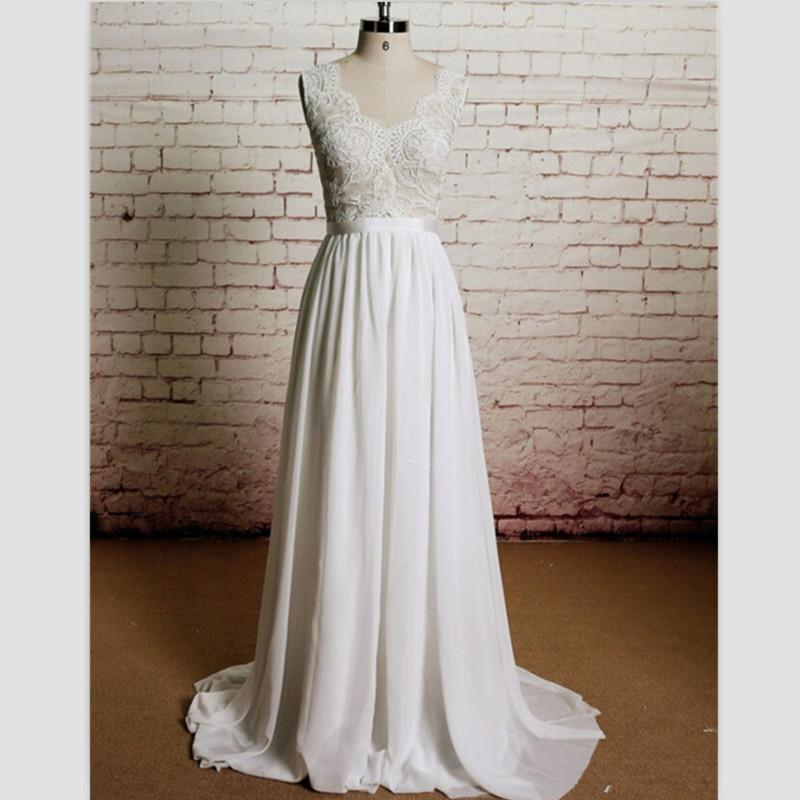 New 99 white lace beach wedding dress 2015 elegant v neck for White beach wedding dresses