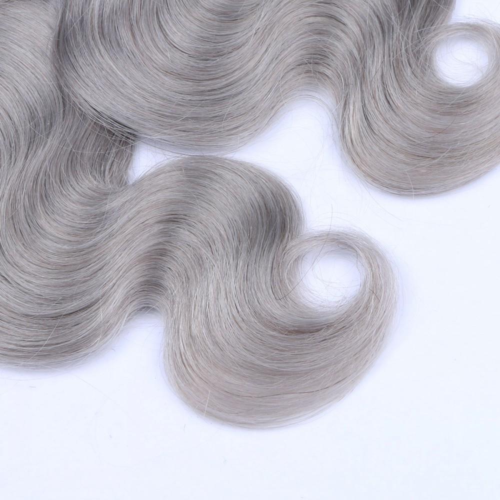 1B Grey Brazilian Virgin Hair Body Wave 2 Pcs Lot 7A Grade Two Tone Ombre Hair Bundles Silver Gray Human Hair Extensions