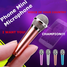 Home party!!!Most Fashion Portable Mini Microphone Stereo Microphon For IPhone/IOS Android Smartphone PC Laptop Chatting Singing(China (Mainland))