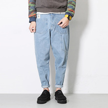 Buy 2017 New Men Jeans Male Street Fashion Hiphop Denim Harem Pant Conical Men Loose Jean Trousers for $27.53 in AliExpress store
