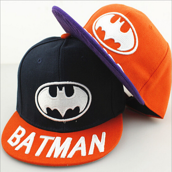 2015 limited special offer letter baseball caps child batman cartoon baby hats for and hip-hop cap autumn winter days Casual(China (Mainland))