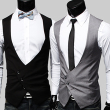 Free Shipping Hot Selling Korean Print Slim Vest For Men V-neck Sport Suits Male Casual Suit Flat Slim Blazer Brand Items(China (Mainland))