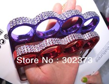2013 New design Luxury Diamond Crystal knuckle case for iPhone 4S 4 with retail box 10pcs/lot free shipping(China (Mainland))