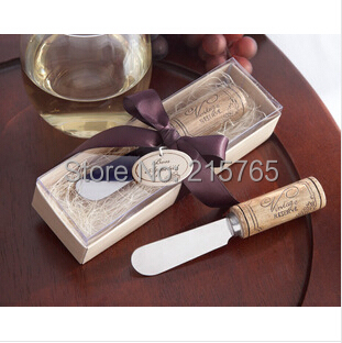 ARRIVAL+Wooden handle milk yellow knife Wedding Favors +100sets / lot+ - Fashion wedding products co., LTD store