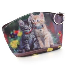 6 Style Women Coin Purses Lovely Dog Cat Face Cute Girl Animal Mini Bag Key Ring Case Zipper Wallet Pouch Change Purse wholesale(China (Mainland))