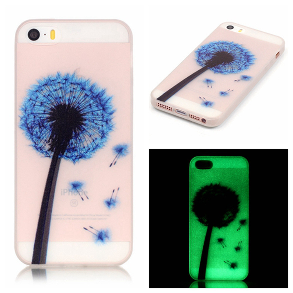 Hot Sold Cute Spots Luminous Glow in Dark Phone Shell Cover For Apple iPhone5 Case For iPhone 5 iPhone 5S Cases