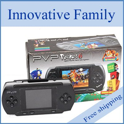 "Free Shipping 2.7"" LCD Screen Game Console PVP Station Vedio Game Player+plastic material+innovative design"