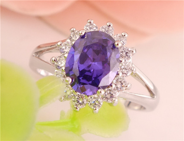 Free Shipping Promotion 1pc Silver Shiny Cubic Zirconia CZ Blooming Flower Women's Finger Ring TA516/TC533/TC534(China (Mainland))