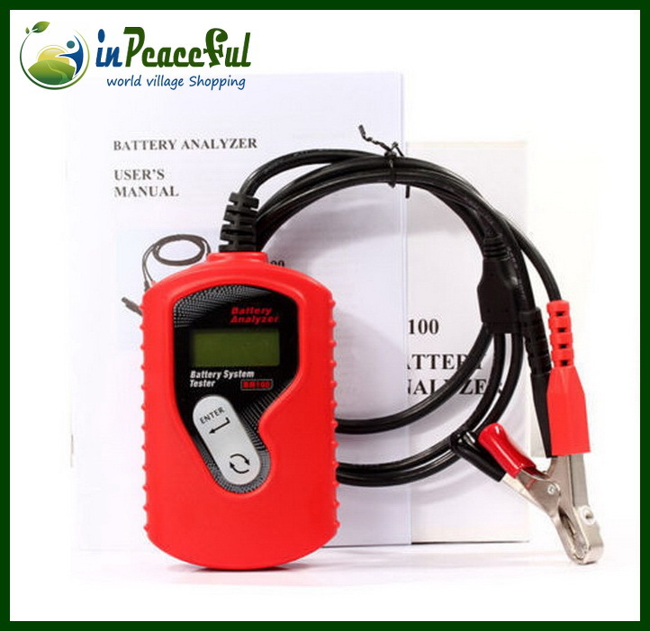 Vehicle battery tester, Auto battery analyzer Support English, French, Dutch, Finnish, German, Polish, Italian(China (Mainland))