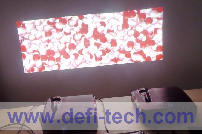 DEFI Double screen Interactive floor system support 2 projectors with 16 effects now(China (Mainland))