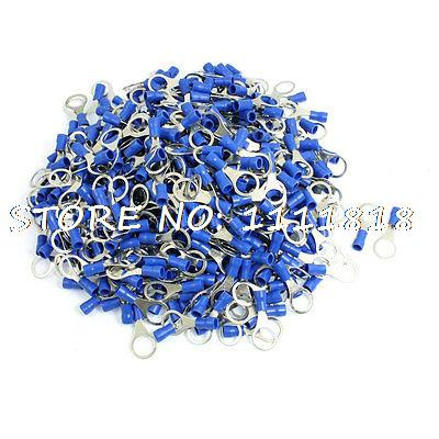 RV2-10 Ring Tongue Type Pre Insulated Terminals Blue 500pcs for AWG 16-14<br><br>Aliexpress