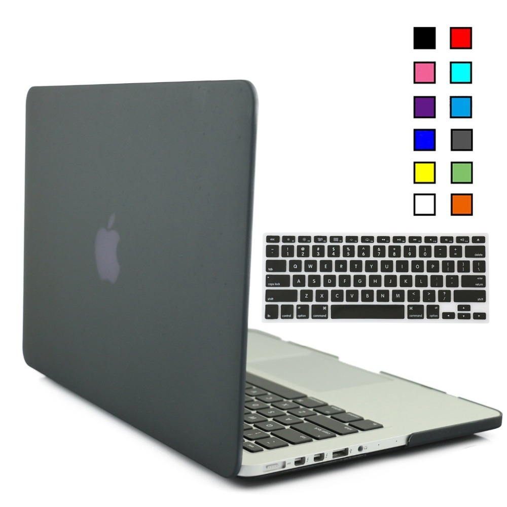 Rubberized Hard Matte Protective Case for Macbook Pro Retina 13 15 inch caso & Keyboard cover Film para portatil laptop cases(China (Mainland))