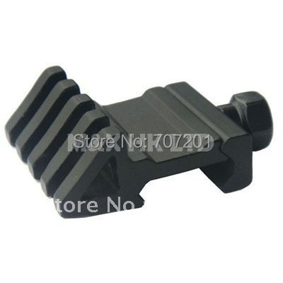 50pcs New 45 degree Tactical 1 Side Tilted Rail Mount Base Side Lateral Guide Rail (Y0036)(China (Mainland))