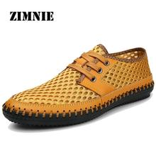 Fashion Simple Sport Sandals Style Men Sneakers Summer Breathable Air Mesh Running Shoes Cool Low Upper Heigh Lace Up
