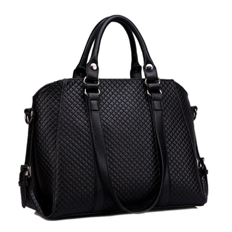 Elegant Ladies Hand Bags High Quality Quilted Handbags Women Classic Designer Tote Big Top Handle Briefcase(China (Mainland))
