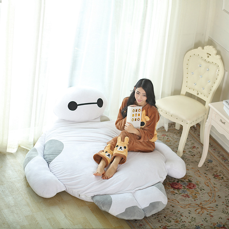 Plush Floor Pillows : Giant Cartoon Mattress Big Hero 6 Cushion Plush Baymax Doll Cartoon Sofa Bed Tatami Totoro Bed ...