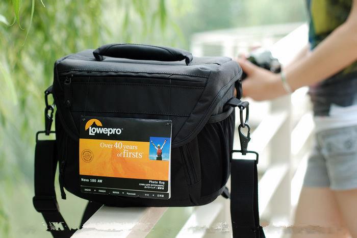 Details about Lowepro Nova 180 AW DSLR Camera Photo Carry Shoulder Bag & Rain Cover(China (Mainland))
