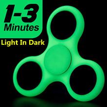 Buy Light Glow Dark Luminous Fidget Spinner Tri-Spinner Autism ADHD Hand Spinners Anti Stress Toys Handspinner Finger Spiner for $1.99 in AliExpress store