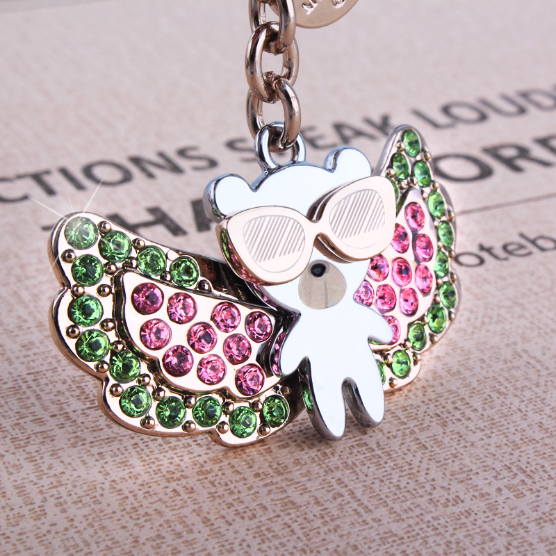 milesi brand Luxury Rhinestone handbag pendant fashion bag Accessories women key ring designer keychain charms chaveiro K0182(China (Mainland))