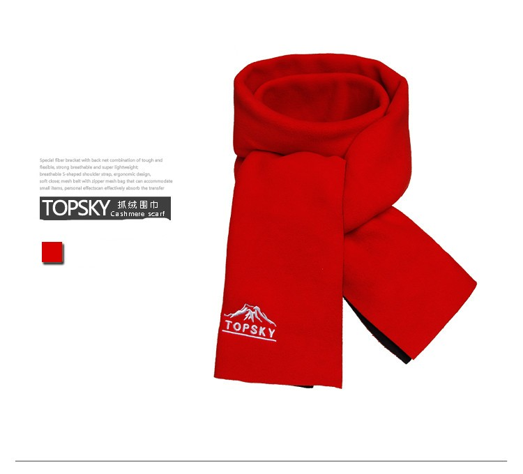 Topsky outdoor Warm scarf Men women sport Fleece scarf contracted Warm scarf for spring Autumn winter