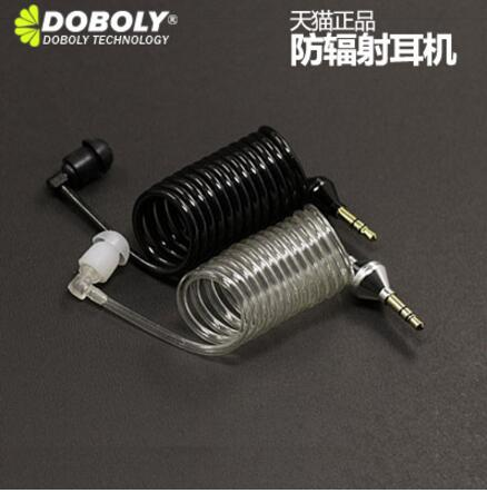Original Doboly M7 Universal phone headset transparent spiral vacuum air tube headphone for iphone for samsung huawei in stock(China (Mainland))