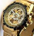 2016 New Gold Watches Luxury Brand Men s Fashion Automatic Hollow Out Man Mechanical Watches Waches
