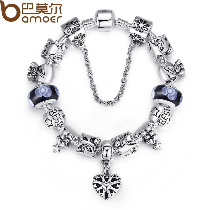 Buy bamoer best wishes bracelet bangles for Buying jewelry on aliexpress