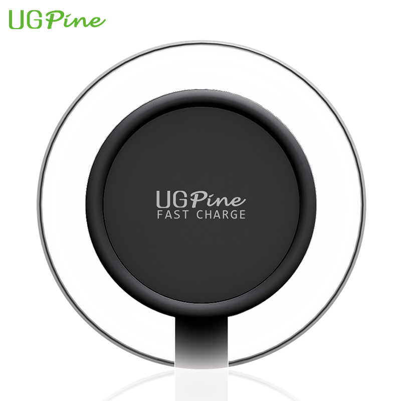 Fast Charger UGpine Qi Wireless Charger 10W Wireless Charging Pad for Samsung Galaxy S7/S7 edge, Note5, S6 edge+ Free Shipping(China (Mainland))
