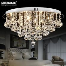 Round Crystal Ceiling Light Fitting G4 Surfase Mounted Lustres de cristal Crystal lighting for Hallway Lamparas de Techo Home(China (Mainland))
