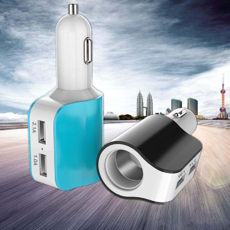 Dual USB 5V 3.1A Car Charger & Cigarette Lighter Adapter for iPhone 6s Samsung S6 Unviersal Portable Car Charger(China (Mainland))