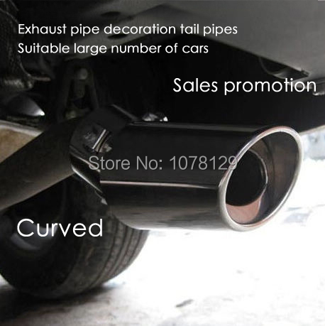 304 Stainless Steel Exhaust Muffler Tip Pipe End Car Tail Last exhaust system