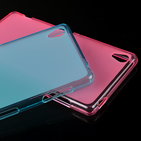 Ultra Thin transparent Scrub soft Silicone Back Cover sony Xperia Z3 L55U cases - BEIJING WuYue Electronics Technology Group Co., Ltd. store