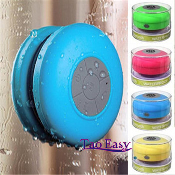 Fast shipping Portable Waterproof Wireless Bluetooth Speaker Shower Car Handsfree Receive Call & Music Suction Phone Mic(China (Mainland))