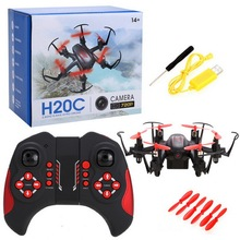 JJRC H20C Mini Protable Drone 2.4G 4Channels 6Axis Gyro Lights Eversion RC Hexacopter Nano Micro Helicopter 2.0MP Camera Red RTF