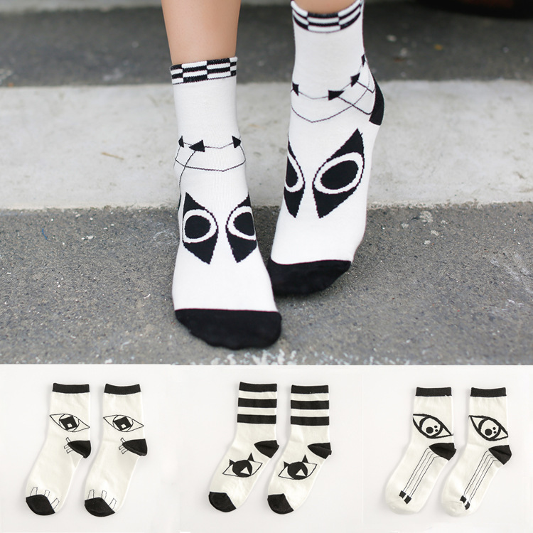 10pcs 5pairs lot 2015 Fashion Novelty high quality women The eye of personality thought Warm