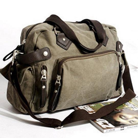 New shoulder casual bag messenger bag canvas man travel handbag for male trip/daily use,grey khaki black color free shipping(China (Mainland))