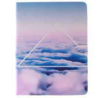 White Cloud case leather case for ipad 2/3/4 Mini smart cases for iPad mini cover stand tablet design(China (Mainland))